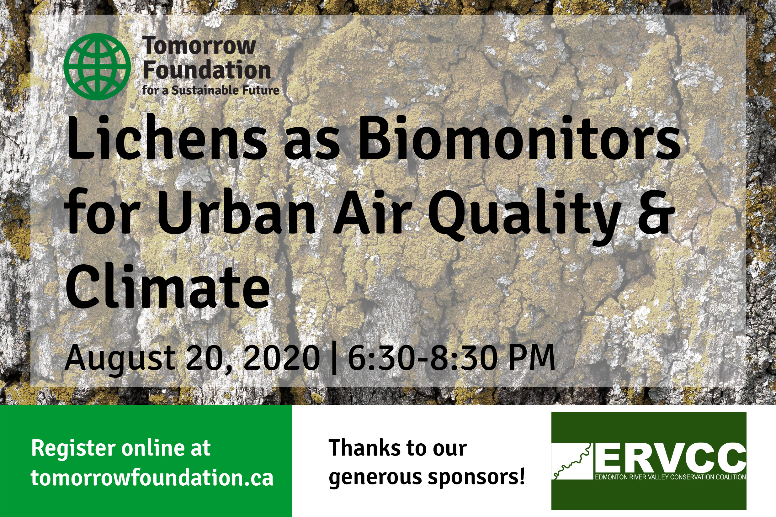 August 20 Webinar: Lichens as Biomonitors for Urban Air Quality & Climate