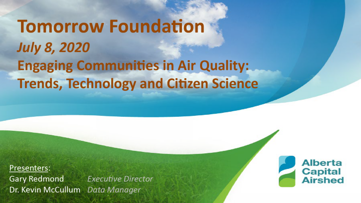 Webinar: Engaging Communities in Air Quality: Trends, Technology and Citizen Science